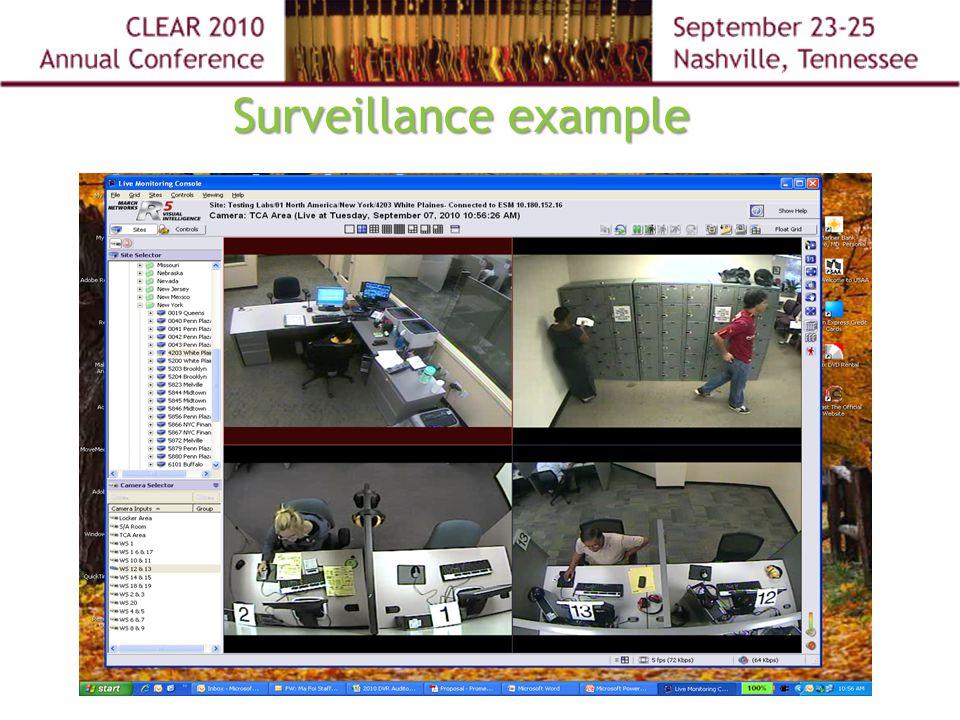 Surveillance example
