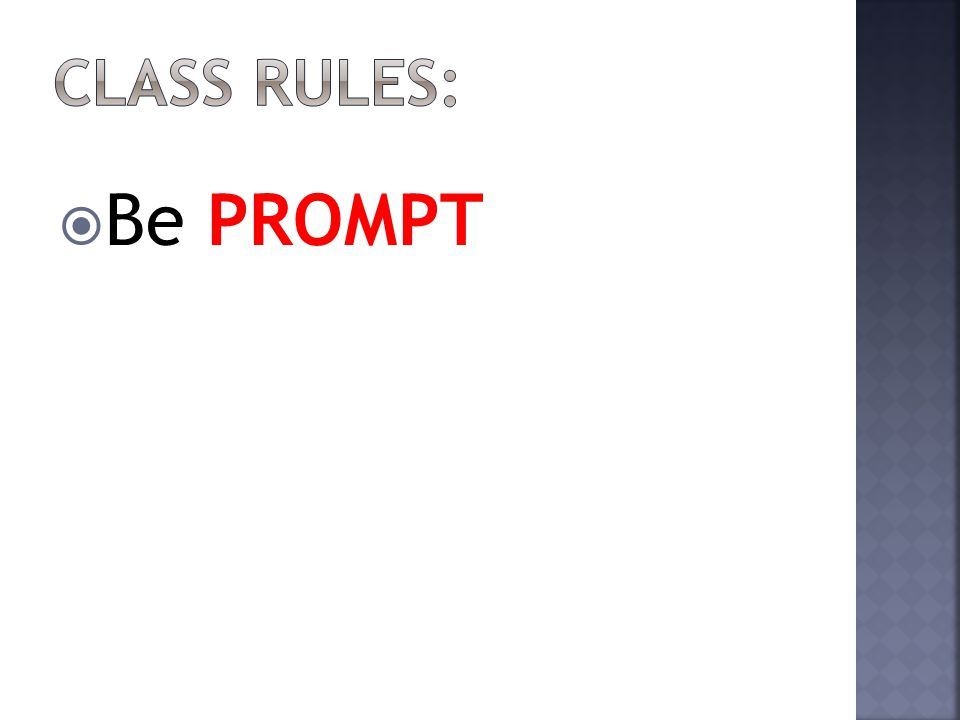  Be PROMPT