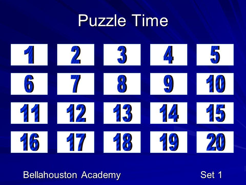 Puzzle Time Bellahouston Academy Set 1