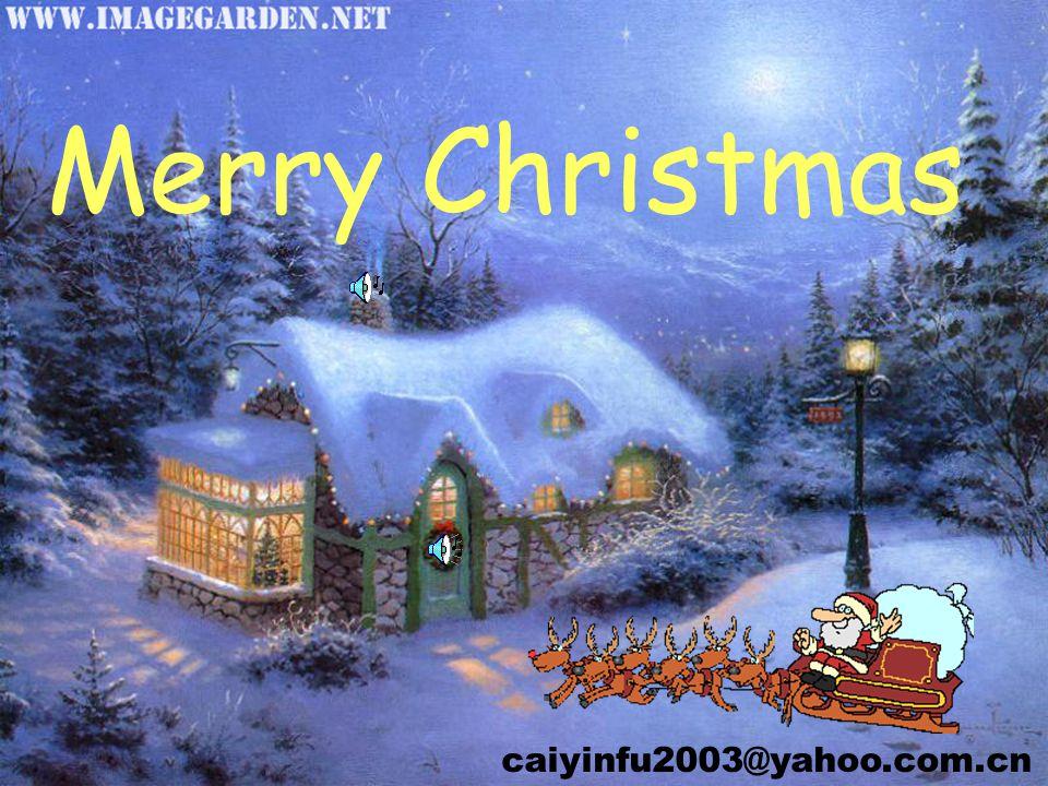 Merry Christmas caiyinfu2003@yahoo.com.cn
