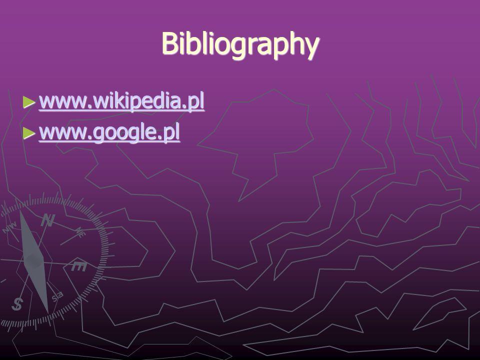 Bibliography ► www.wikipedia.pl www.wikipedia.pl ► www.google.pl www.google.pl