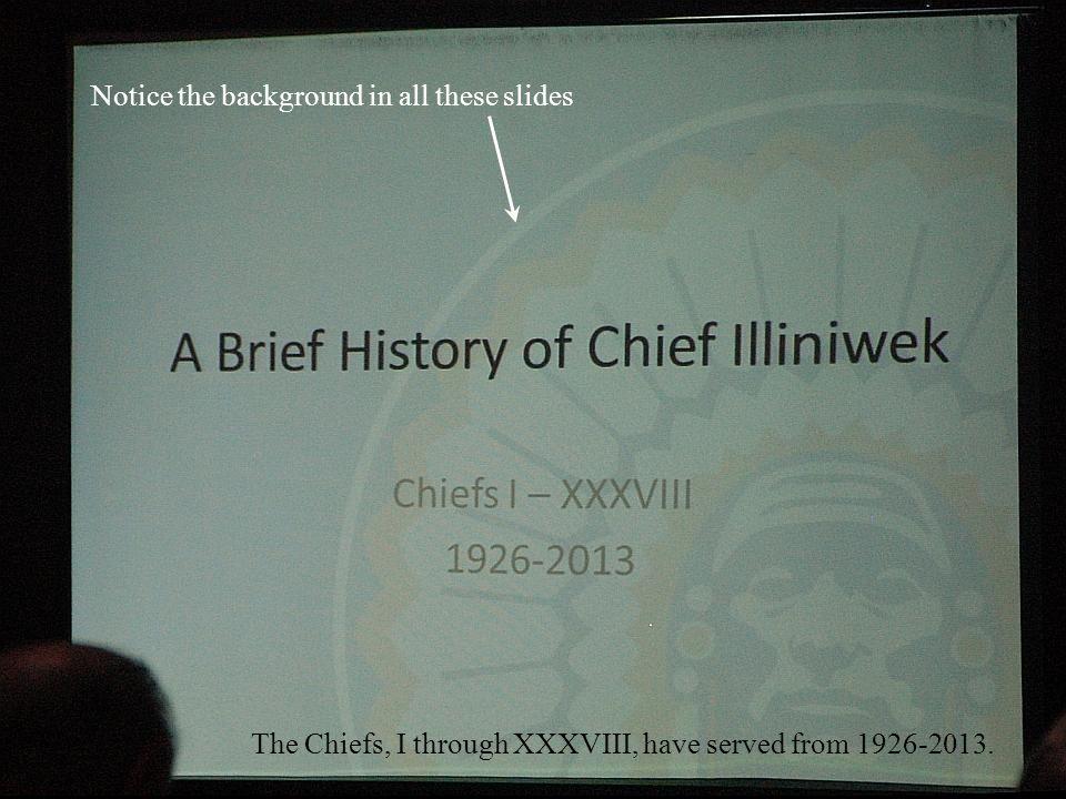 Alex gave a presentation on A Brief History of Chief Illiniwek.