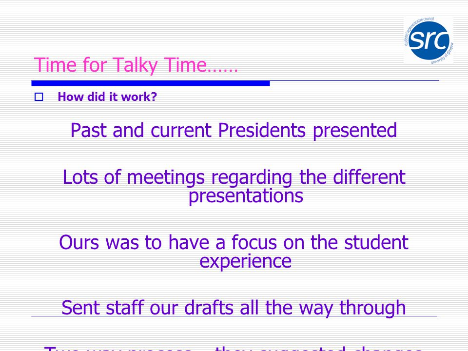 Time for Talky Time……  How did it work.