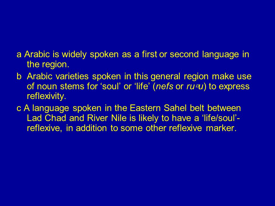 a Arabic is widely spoken as a first or second language in the region.