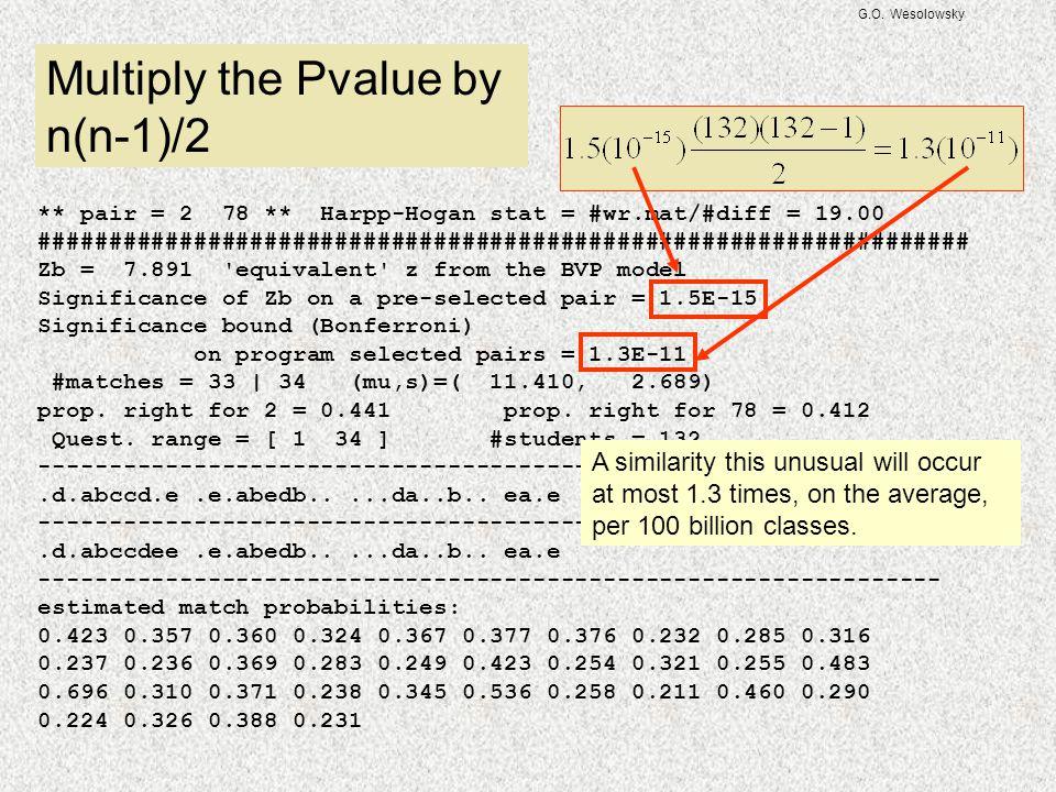 G.O. Wesolowsky ** pair = 2 78 ** Harpp-Hogan stat = #wr.mat/#diff = 19.00 ################################################################## Zb = 7.8