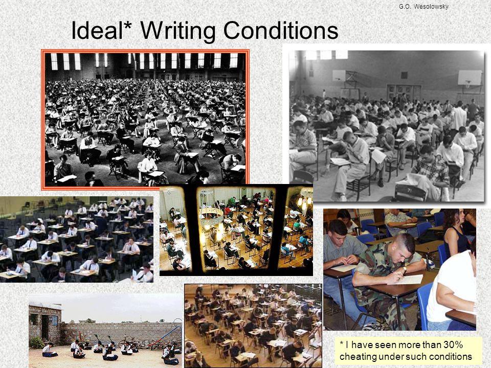 G.O. Wesolowsky Less than Ideal Writing Conditions http://math.berkeley.edu/~ribet/113/