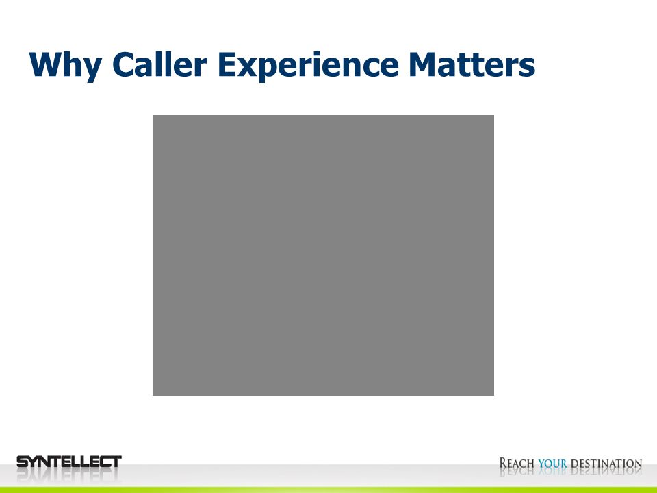Why Caller Experience Matters