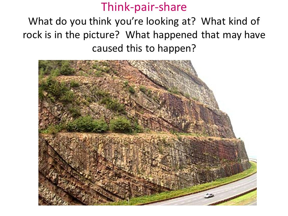 Think-pair-share What do you think you're looking at.