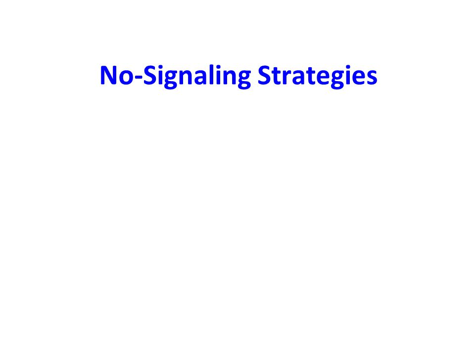 No-Signaling Strategies