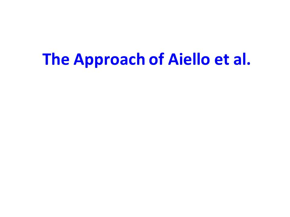 The Approach of Aiello et al.
