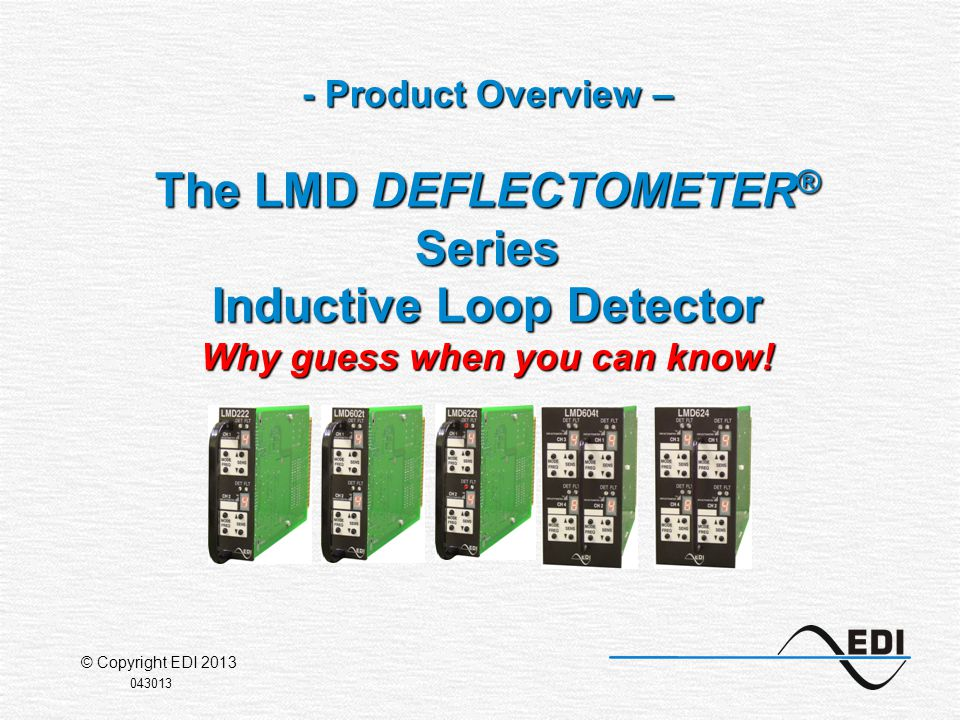 Page 2 The LMD Series uses an intuitive push-button interface with a 7-segment DEFLECTOMETER display for each channel.