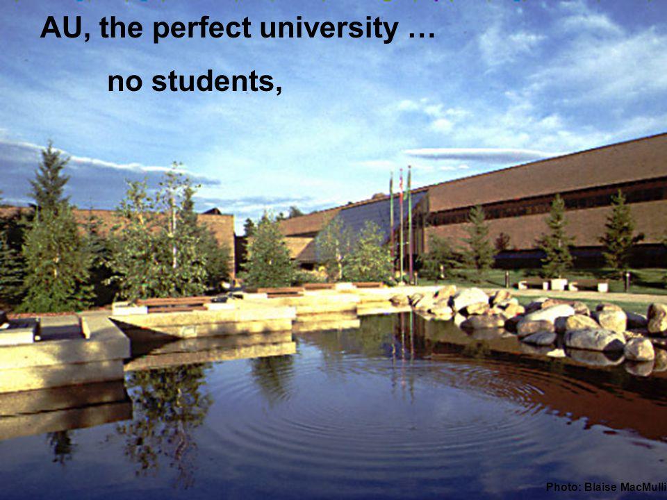 AU, the perfect university … no students, Photo: Blaise MacMullin
