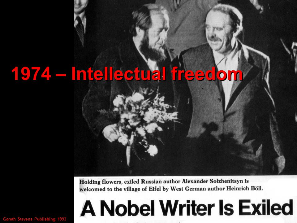 1974 – Intellectual freedom Gareth Stevens Publishing, 1993