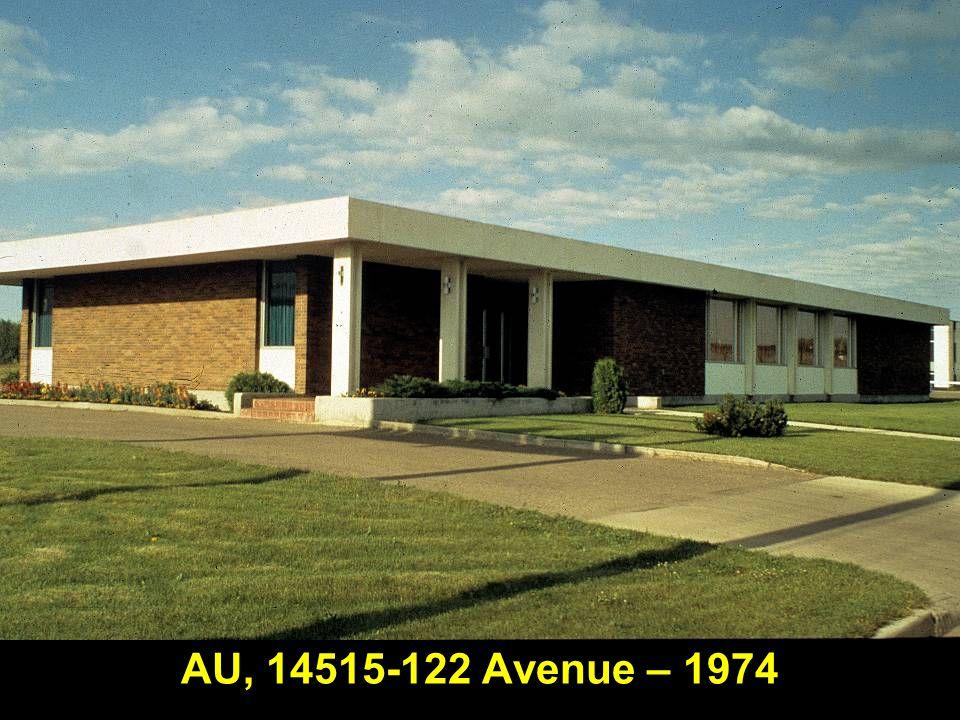 AU, 14515-122 Avenue – 1974
