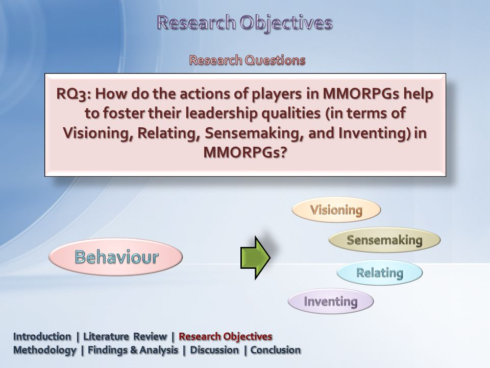 RQ3: How do the actions of players in MMORPGs help to foster their leadership qualities (in terms of Visioning, Relating, Sensemaking, and Inventing)