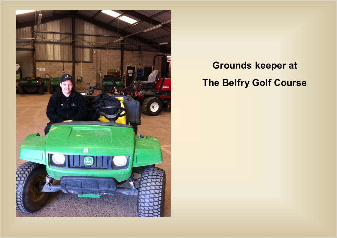 Grounds keeper at The Belfry Golf Course
