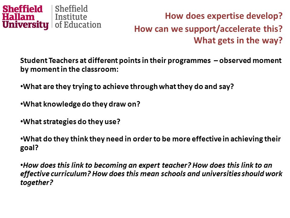 How does expertise develop. How can we support/accelerate this.