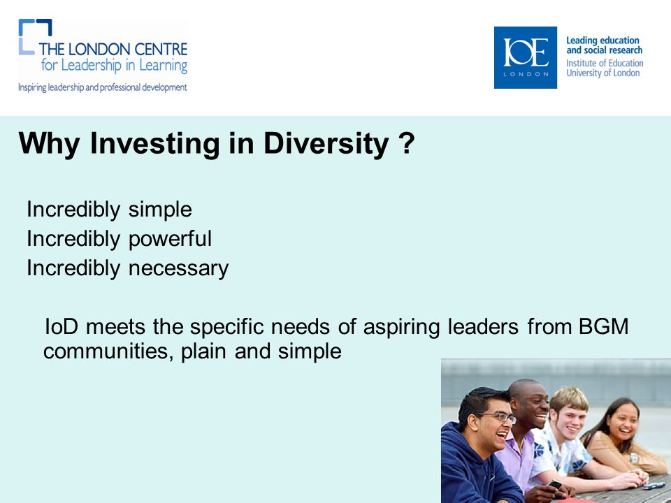 Why Investing in Diversity .