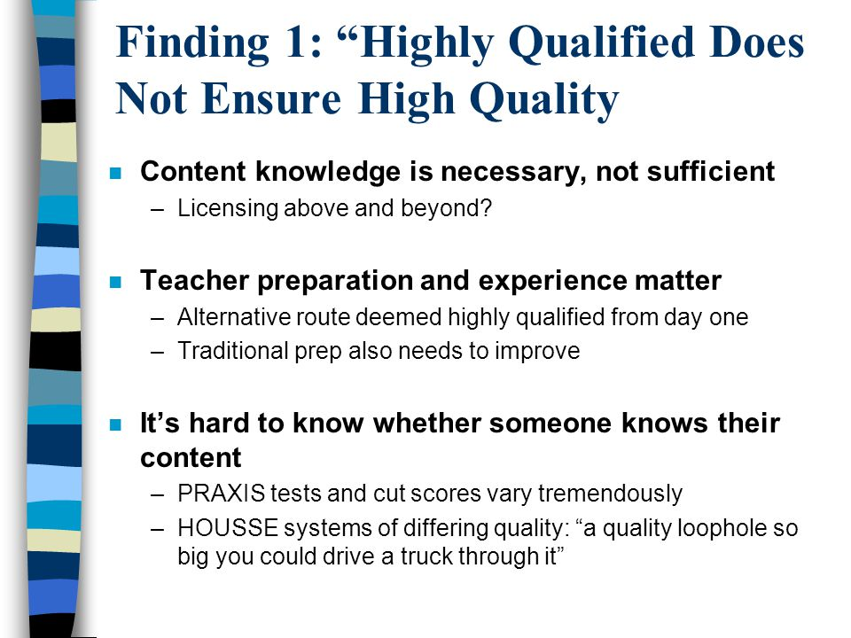 Finding 2: Hard-to-Staff Solutions are Hard to Find We really worked to find teachers this past year, but the only two math teachers we could find had just been released by another school system.