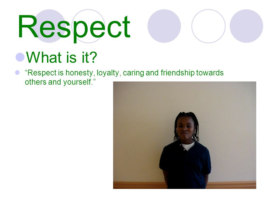 Respect What is it.