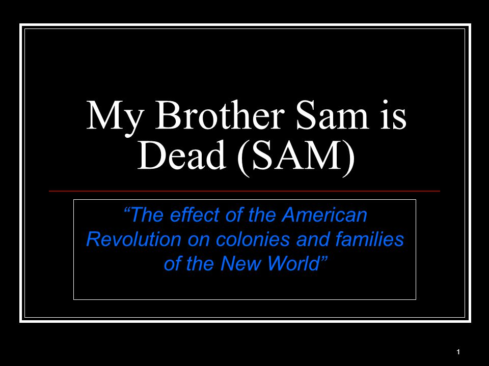 32 My Brother Sam is Dead Ch.11 (XI) Pain & Promises Twice they (Gen.