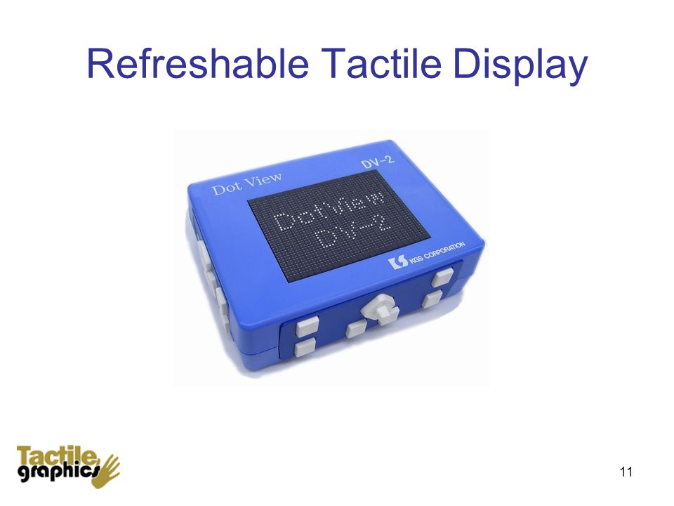 Refreshable Tactile Display 11