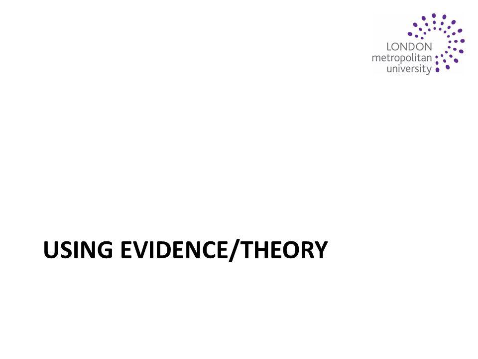 USING EVIDENCE/THEORY