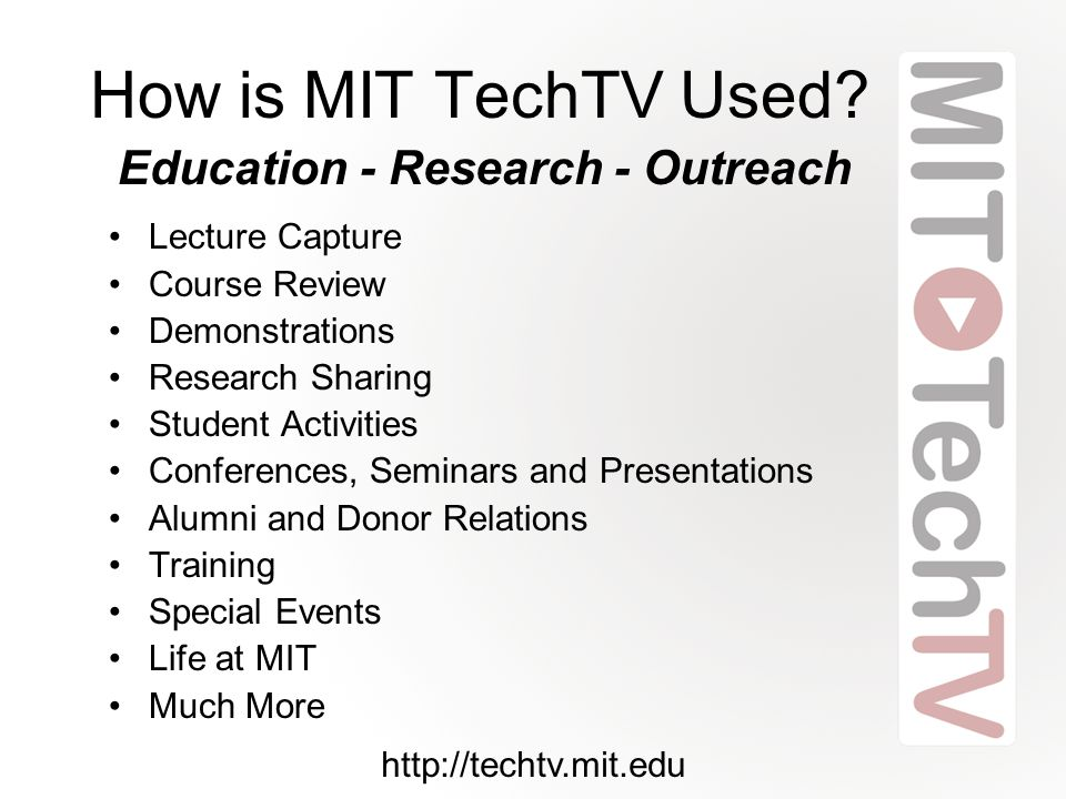 How is MIT TechTV Used.