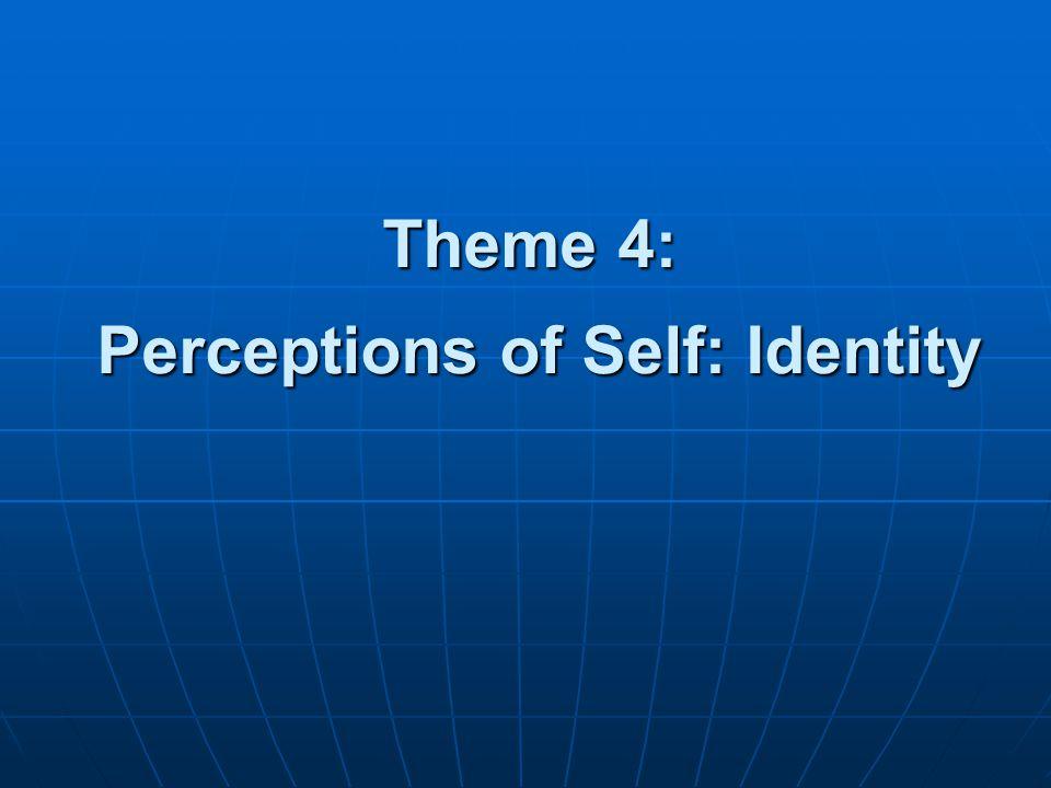 Theme 4: Perceptions of Self: Identity