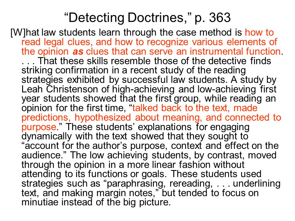 Detecting Doctrines, p.