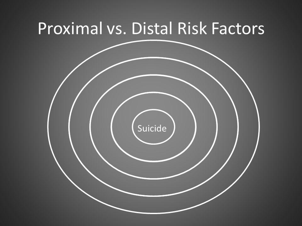 Proximal vs. Distal Risk Factors Suicide