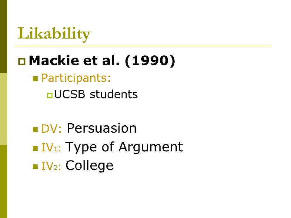 Likability  Mackie et al.