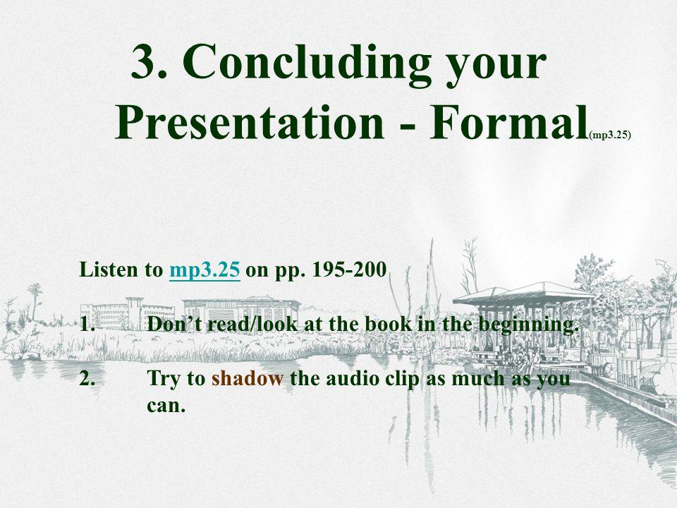 Concluding - Formal 1.