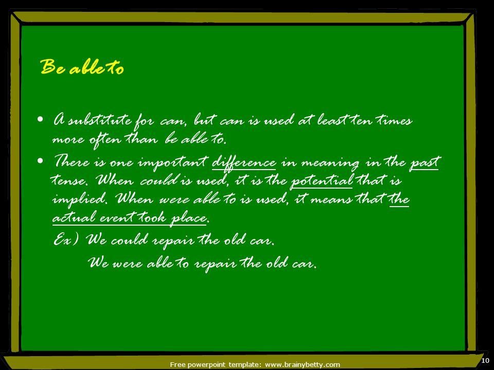 Free powerpoint template: www.brainybetty.com 11 2.