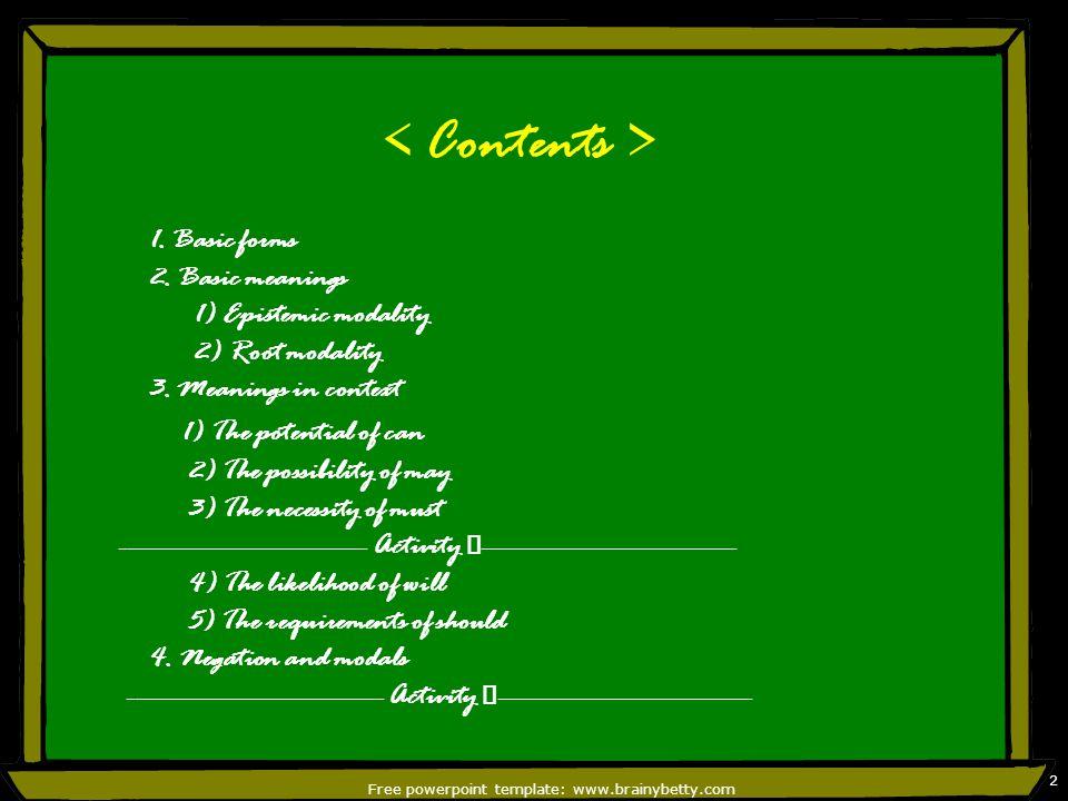 Free powerpoint template: www.brainybetty.com 2 1.