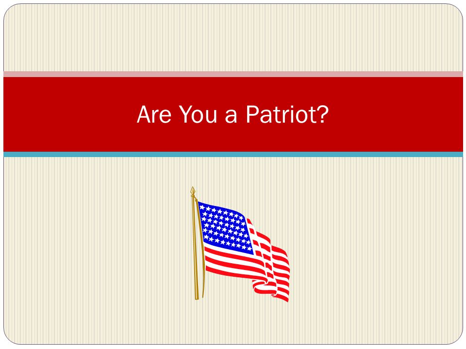 List 5 characteristics of Americans Do you say the Pledge of Allegiance in the morning.