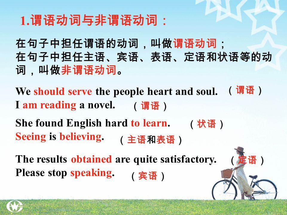Grammar 非谓语动词 非谓语动词功能比较 to do 的复合结构 -ing form 的复合结构 非谓语动词的否定式 -ing form 与 pp 的区别 `