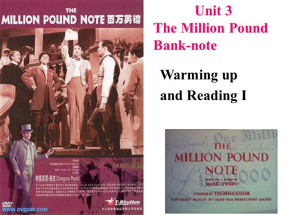 The Million Pound Bank Note Unit 3