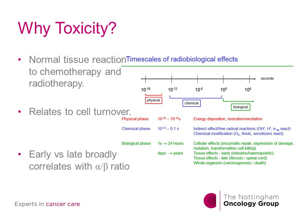Chemo - Summary Most chemo effects acute.Fatigue most common long term.