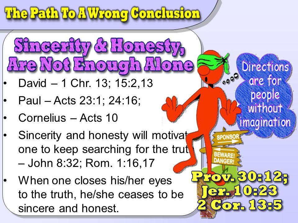 David – 1 Chr. 13; 15:2,13David – 1 Chr.