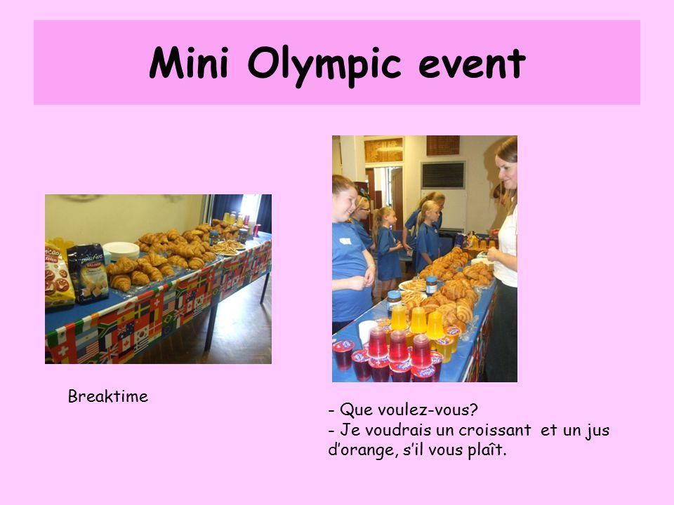 Mini Olympic event Breaktime - Que voulez-vous.