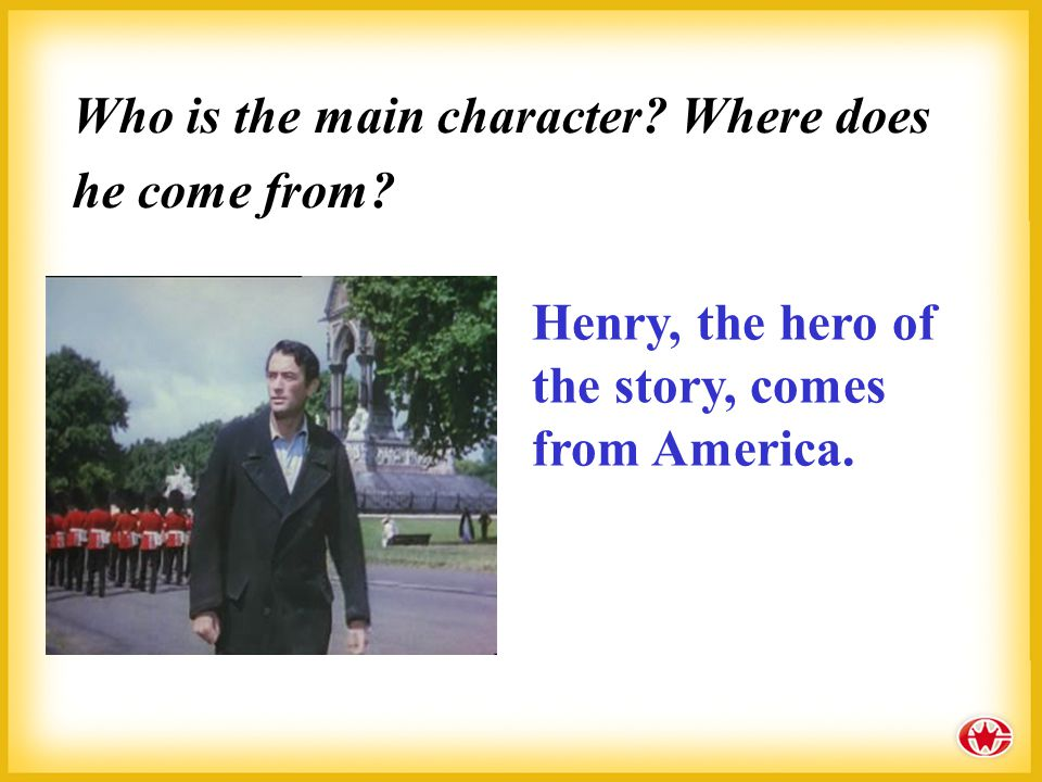 "Characters (人物): Henry Adams: a lost American businessman in London ""Roderick"" and ""Oliver"": two brothers and rich Englishmen"
