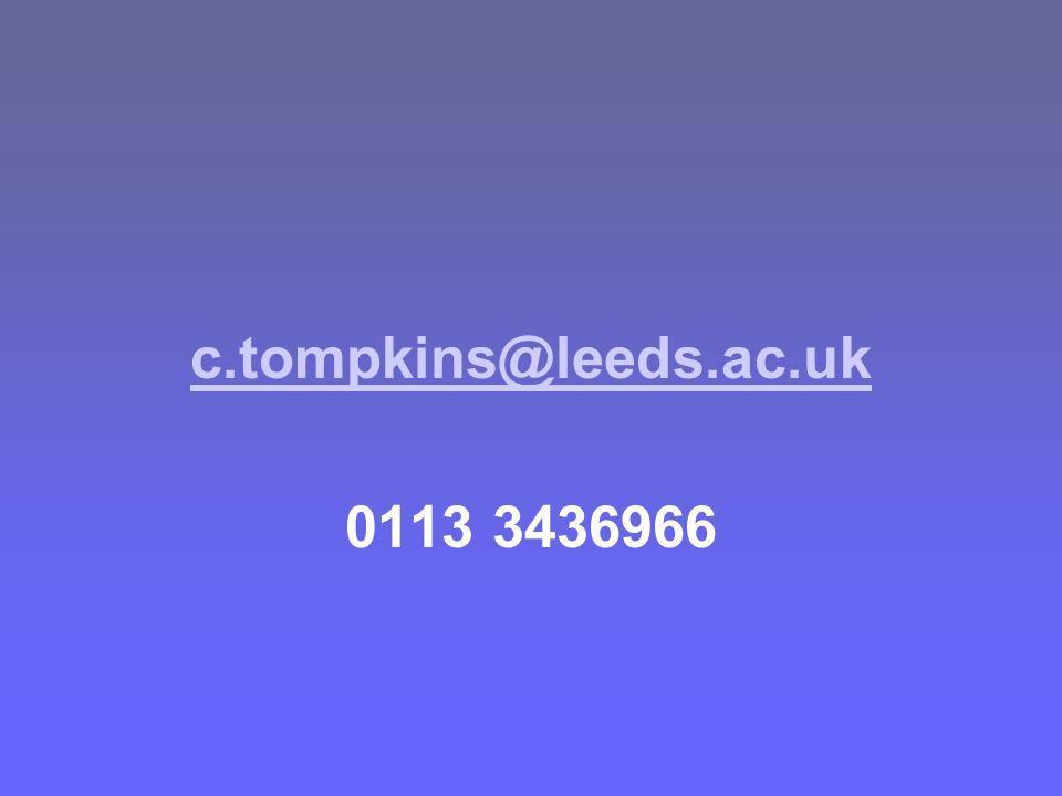 c.tompkins@leeds.ac.uk 0113 3436966