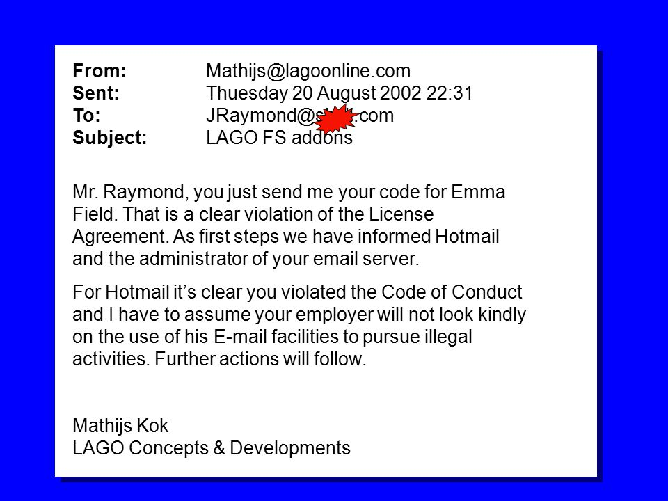 VERY BORING STANDARD POWERPOINT BACKGROUND Mr.Raymond, you just send me your code for Emma Field.