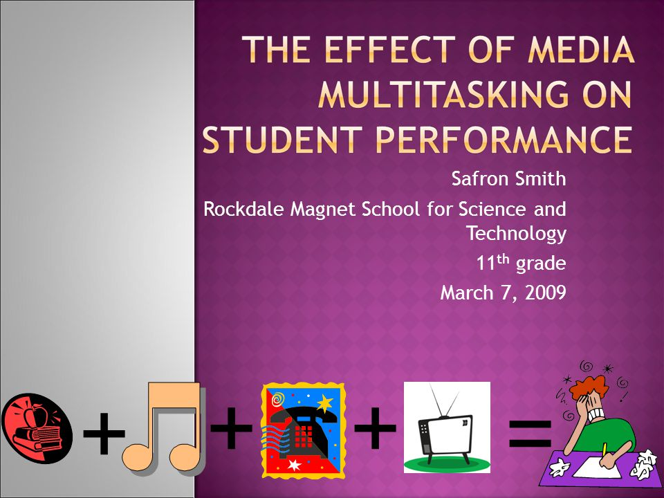 Safron Smith Rockdale Magnet School for Science and Technology 11 th grade March 7, 2009 + ++ =