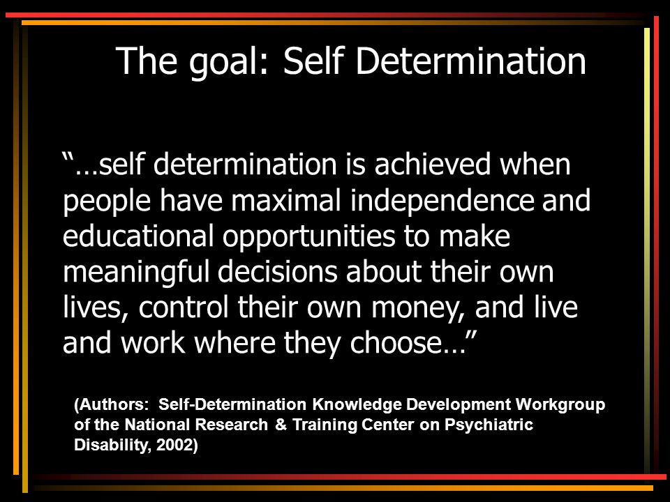 CMHSRP website… www.psych.uic.edu/mhsrp Financial Education Curriculum IDA Project Information Other Self-Determination Tools Supported Employment Tools For Further Information… Contact Tina Carter… tcarter@psych.uic.edu 312-413-3526 (phone)