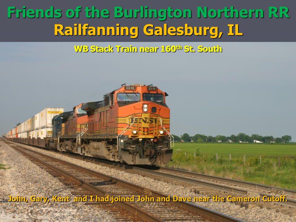 Friends of the Burlington Northern RR Railfanning Galesburg, IL WB Stack Train near 160 th St.
