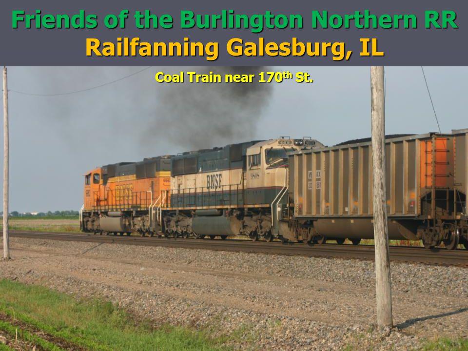 Friends of the Burlington Northern RR Railfanning Galesburg, IL Coal Train near 170 th St.