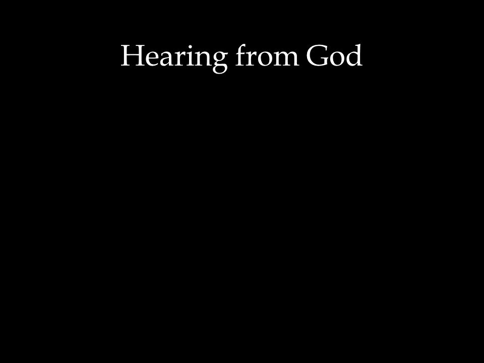 How a typical person learns to recognize God s voice First, a sound as a presence walking in the garden.