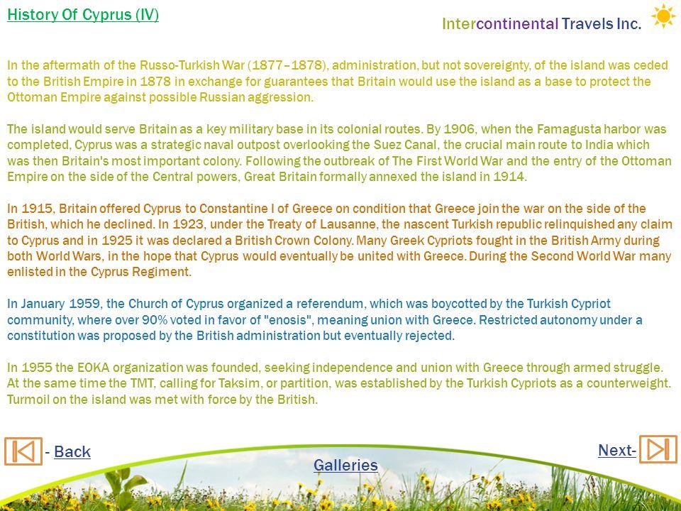 Intercontinental Travels Inc.